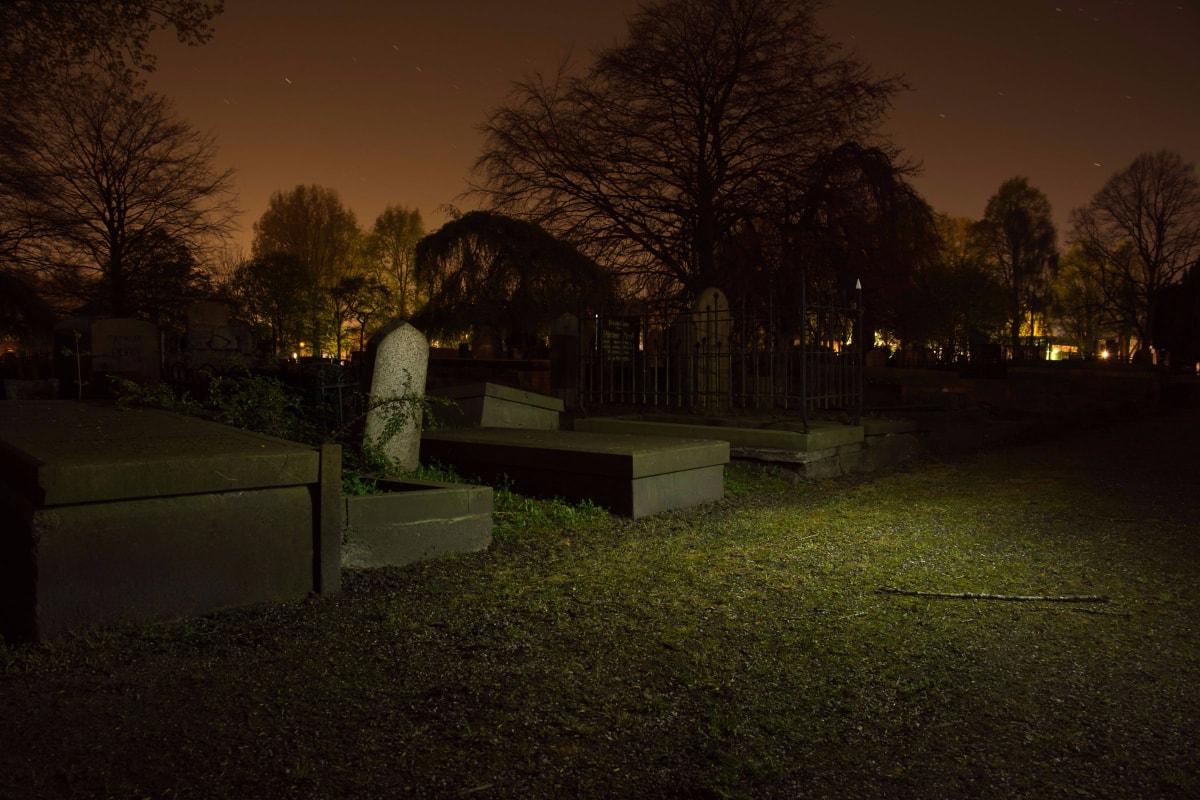 scary looking graveyard Halloween