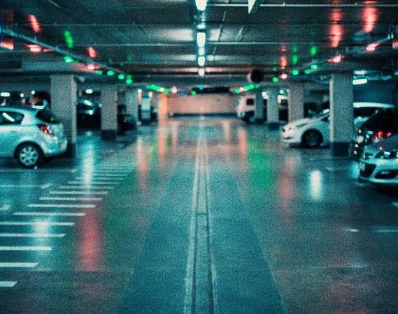 Underground parking garage | Alpha Airport Parking